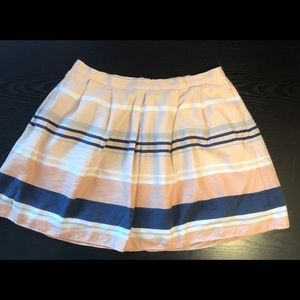 Chelsea28 striped mini skirt size Large